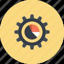 chart, cogwheel, configuration, data, gear, graph, settings