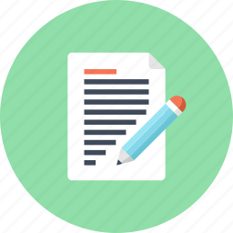 article, blog, document, page, pencil, web, write icon