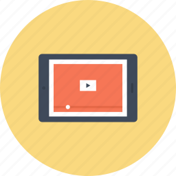 marketing, media, play, promotion, seo, tablet, video icon