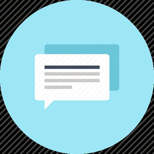 Communication, conversation, speech, chat, message, bubble, talk icon