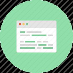 browser, code, coding, development, page, program, web icon
