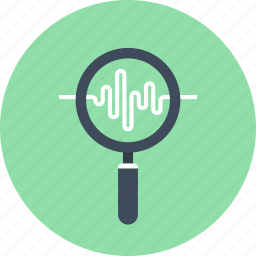 analysis, chart, data, magnifier, monitoring, search, seo icon