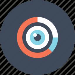 analysis, analytics, chart, data, eye, graph, research icon