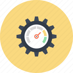 cogwheel, optimization, performance, seo, settings, speed, speedometer icon