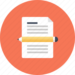 article, blog, copywriting, document, pencil, web, write icon