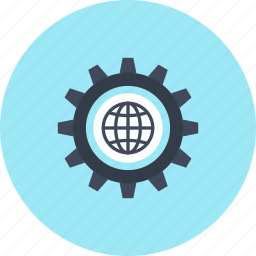 browser, cogwheel, design, development, gear, settings, web icon