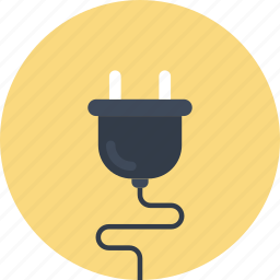 cable, connection, energy, plug, plug-in, plugin, wire icon
