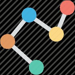 analytics, business graph, line graph, seo graph, statistics icon
