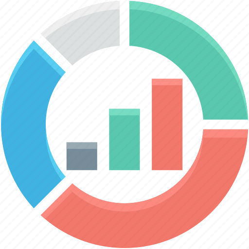 analytics, bar chart, business graph, graph, pie chart icon