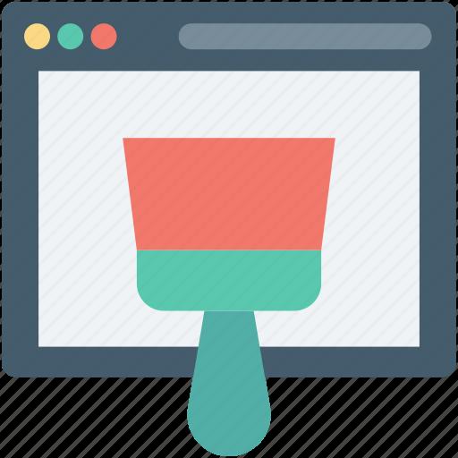 customize, paintbrush, web designing, web page, website icon