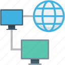 globe, internet connection, internet sharing, monitor, networking
