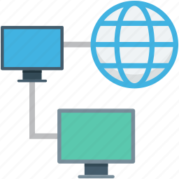 globe, internet connection, internet sharing, monitor, networking icon