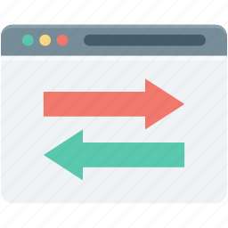 arrows, data exchange, data share, data transfer, website icon