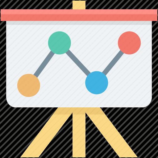 chalkboard, graph presentation, presentation, seo analysis, seo graph icon