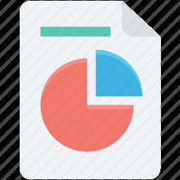 business report, graph report, pie chart, pie graph, statistics icon