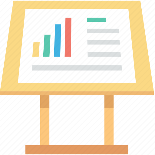 chalkboard, graph presentation, presentation, seo analysis, seo graph icon