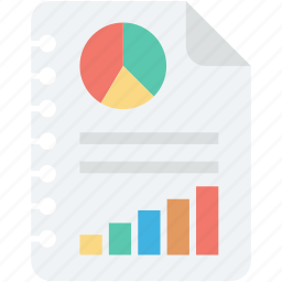 bar graph, business report, graph report, pie chart, statistics icon