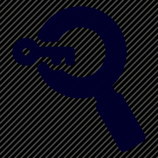 key, keyword, search, seo icon