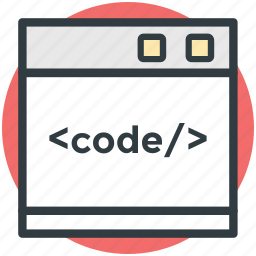 css, php, programming, source page, web development icon