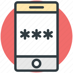 mobile internet, mobile password, mobile security, mobile ui icon