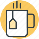 hot tea, steam, tea, teabag, teacup icon