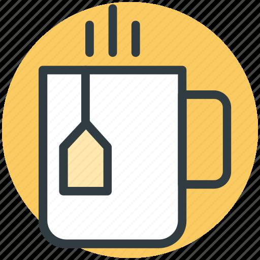 hot tea, steam, tea, teabag, teacup icon