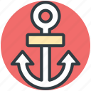 boat anchor, marine anchor, anchor, ship anchor, sea