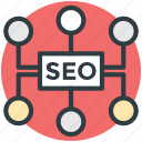 link building, search engine optimization, seo marketing, seo service, web seo icon