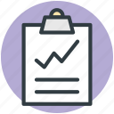 analysis, analytics, clipboard, graphic report, statistics icon