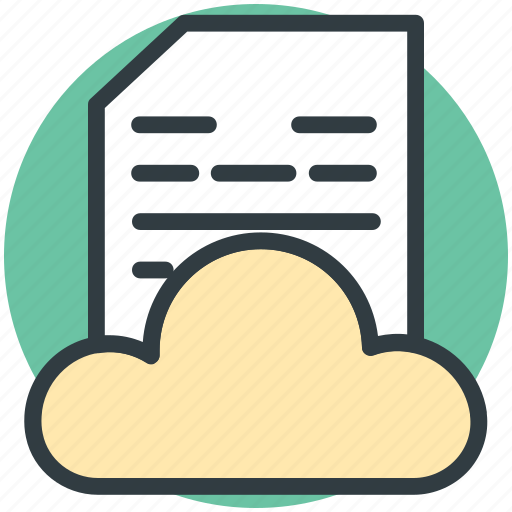 cloud computing, cloud document, cloud hosting, cloud network, cloud storage icon