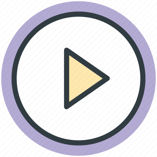 audio control, media button, media control, play button, play sign icon