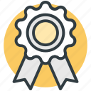 award badge, badge, medal, quality symbol, ribbon icon