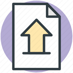 arrow up, computing, file upload, uploading, web element icon