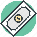 banknote, bill, currency, dollar, money icon