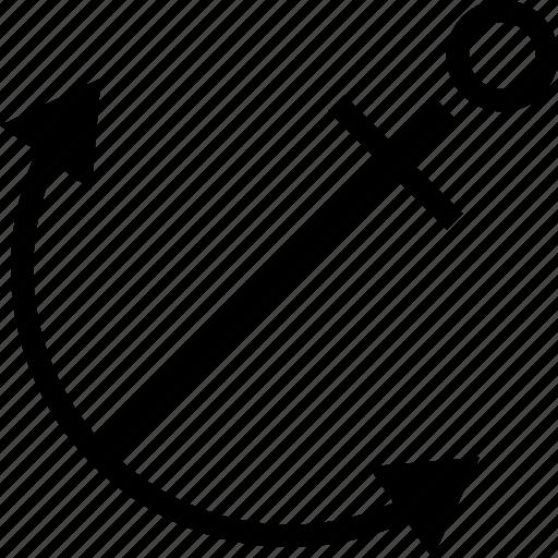 anchor, text icon