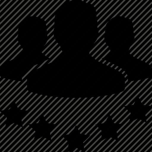 business, customer, leadership, star, team, testimonial icon