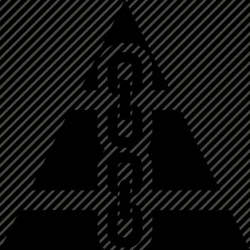 link, pyramide icon