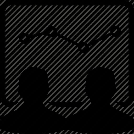 analytics, audience, presentation, training icon