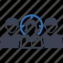 audience, business, businessman, crowd, market, people targeting, target icon