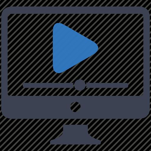 marketing, pause, play, video icon