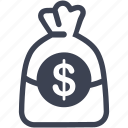 banking, finance, investment, loan, money bag, payment icon