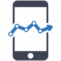 marketing, mobile, statistics icon