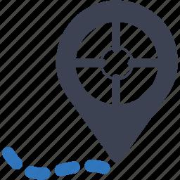 geo, global communication, globe, location, navigation, pin, targeting icon