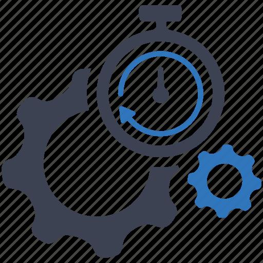 gear, internet, optimization, performance, search engine, seo, stopwatch icon