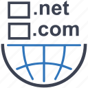 .net, domain, domain registration, internet, tld, web icon