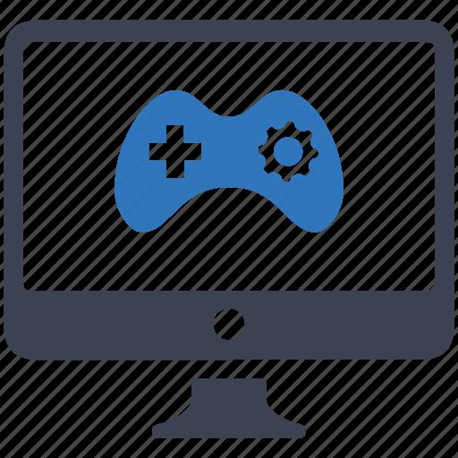 development, game, monitor icon