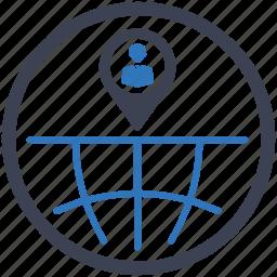 businessmen, global, local seo, location, market, pin icon