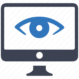 browser, eye, frontend, retina, view, visibility, web icon