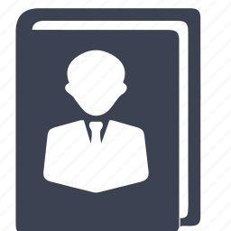 authorship, book, guide icon