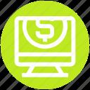 coin, dollar, lcd, monitor, seo, seo dollar, site icon